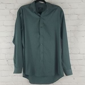 Club Room Regular Fit Green Button Down Shirt